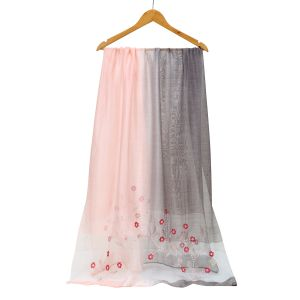 SK16 two tone silk Pink/ Silver