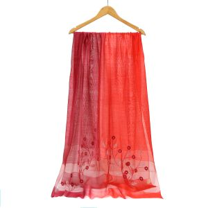 SK16 two tone silk bright/ dark Red