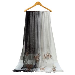 SK19 two tone silk  Silver/ Grey