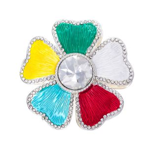 103A-1 multi coloured magnetic brooch