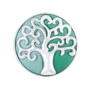 103A-10 The tree of life Silver/ Green