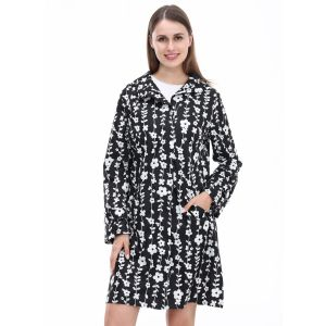 1026 Black White raincoat