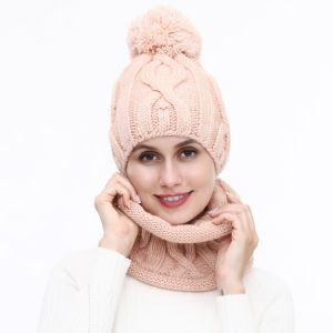 SD60 hat and snood set Blush