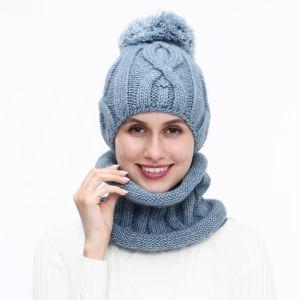 SD60 hat and snood matching set Denim