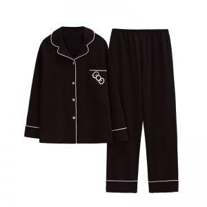 PJA033 Black cotton set
