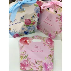 Peach Gift Bags Pink (12 pack)