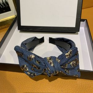 HACH5011 denim leopard bow