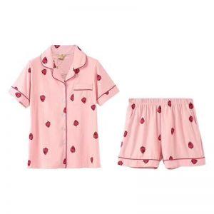 PYA010 Pink strawberry set short