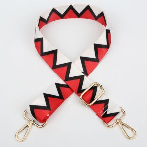 HST001 Red Zig Zag  (Gold toned)