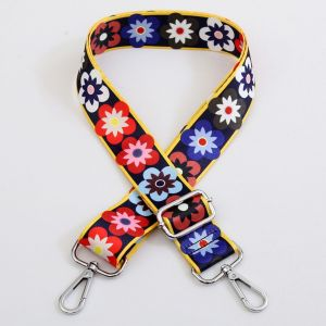 HST001 Multi coloured Flower (Silver toned)
