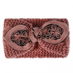 HACH602 Knitted wool with bow detail Pink
