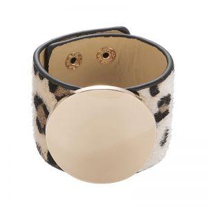 ERO046 Chunky disc style Black White leopard
