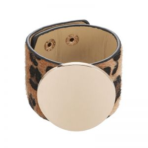 ERO046 Chunky disc style Brown leopard