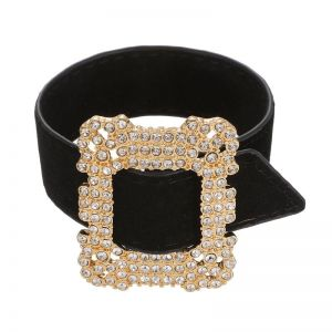 ERO045 Black diamante buckle