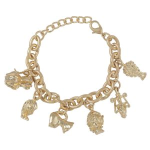 BRE04 Gold plated chunky charm