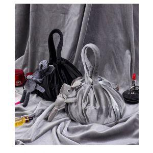 PUR020 Lazy Drawstring Makeup Bag Grey