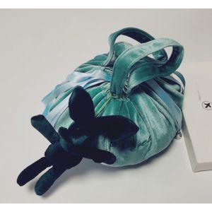 PUR020 Lazy Drawstring Makeup Bag Aqua
