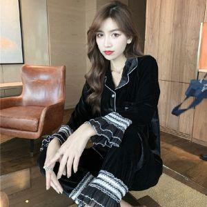 PJA022 Black velvet with White lace